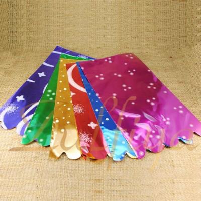 Пакет с цветной подложкой 15х25 см