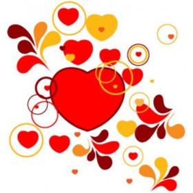Картинка Сердце под хохлому 3,7х3,7см