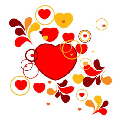 Картинка Серце під хохлому 3,7х3,7 см