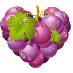 ЗНЯТО З ПРОДАЖУ Картинка Виноградне серце 2,9 х 2,7 см