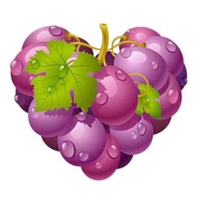 Картинка Виноградне серце 2,9 х 2,7 см