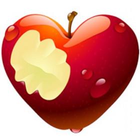 Картинка Яблучне серце 3,7х3,7 см