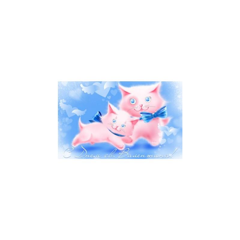Картинка Кошки в розовом 4,5х2,5см