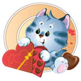 Картинка Кіт в шоколаді 3,4х3,4 см