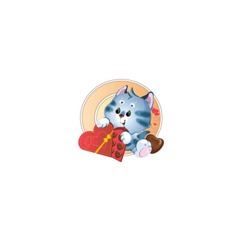 Картинка Кот в шоколаде 3,4х3,4см