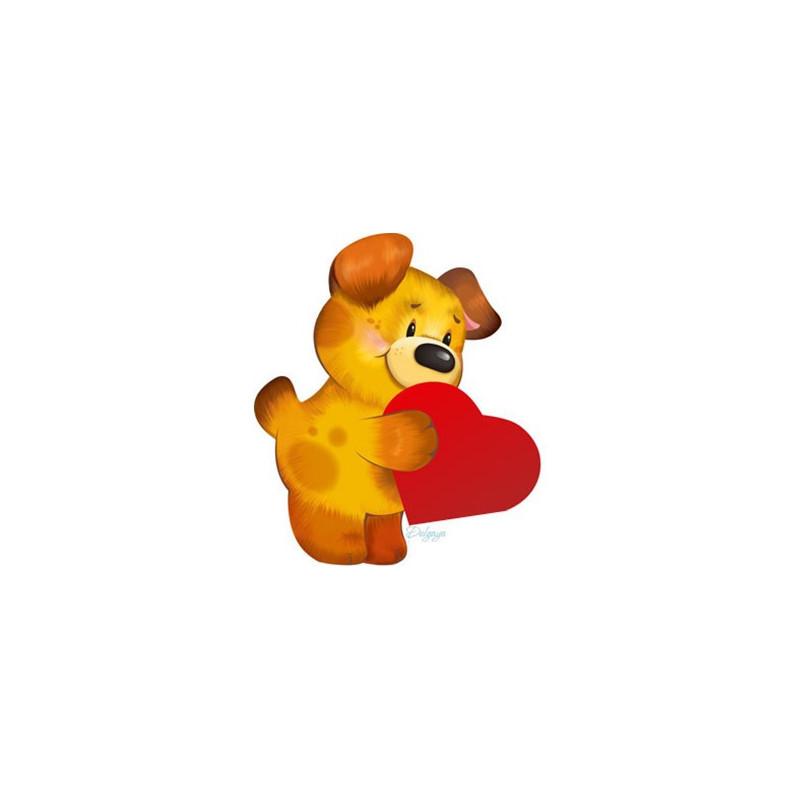 Картинка Щенячье сердце 4,0х3,5см