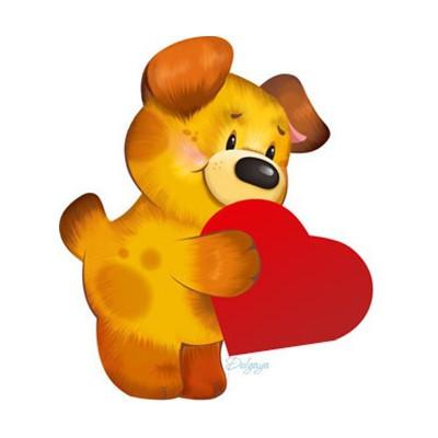 Картинка щеняче серце 4,0х3,5 см