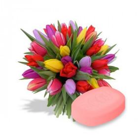 Натуральное мыло Тюльпан