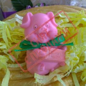 СНЯТ С ПРОДАЖИ Мыло Свинка с бантиком
