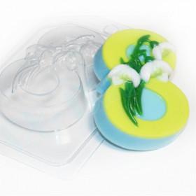Форма для мыла 8 Марта/Подснежники по диагонали