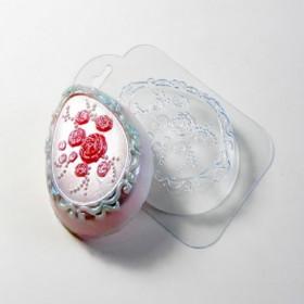 Форма для мыла Яйцо с розочками