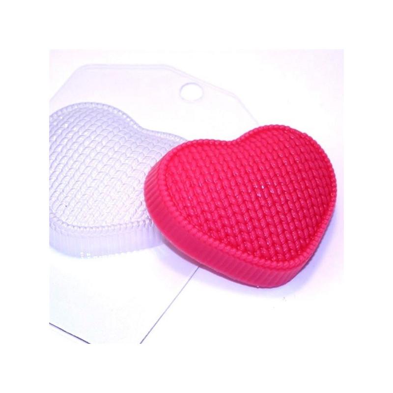 Форма для мыла Вязаное сердце