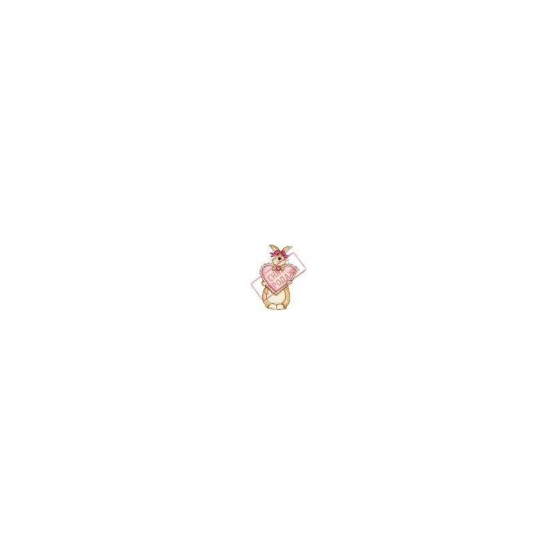 СНЯТ С ПРОДАЖИ Картинка Влюбленный кролик 2,0х3,5см