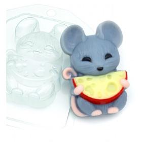Форма для мыла Мышка с полукруглым сыром