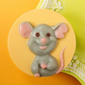 Форма для мыла Мышь счастливая