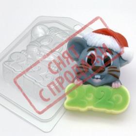 Форма для мила 2020/Миша в новорічній шапці