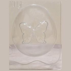 Форма для мыла Большой овал с бабочкой