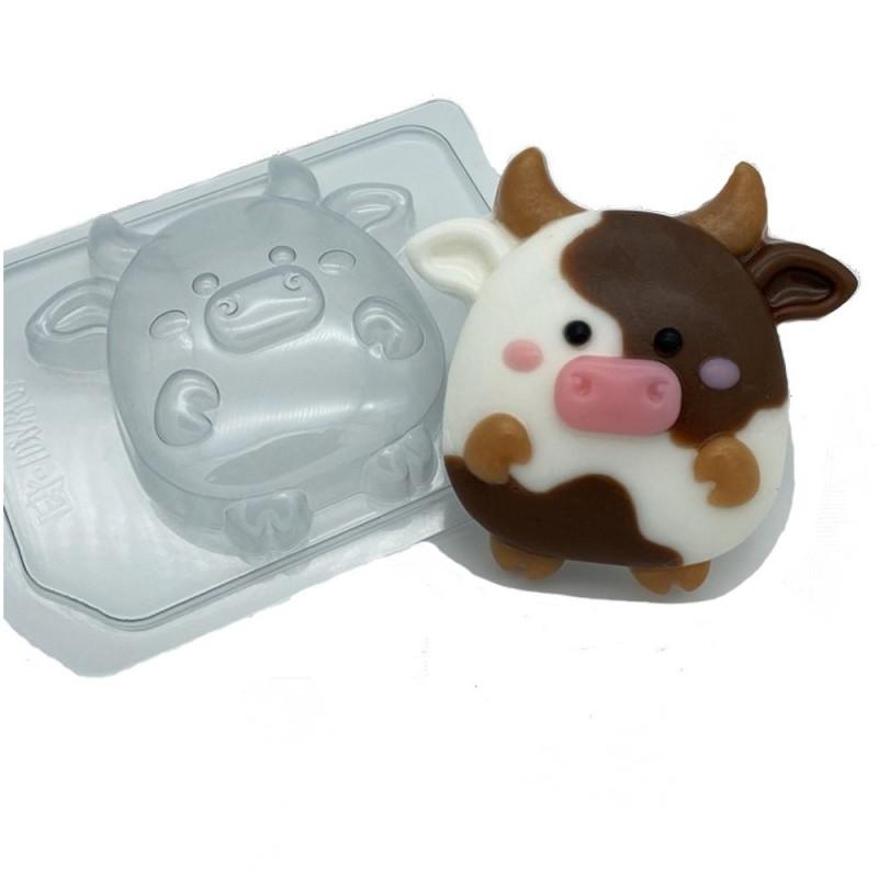 Форма для мыла коровка мультяшная