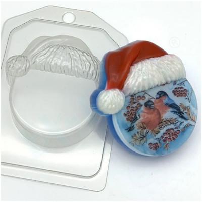 Форма для мыла Круг в новогодней шапке