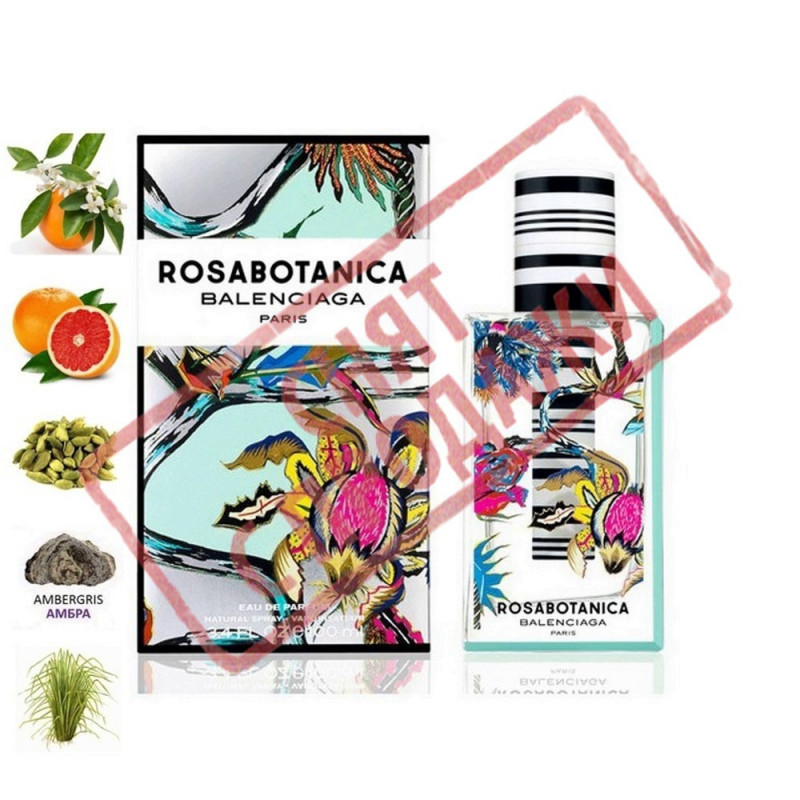 Rosabotanica, Вalenciaga парфумерна композиція