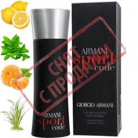 Armani Code Sport, Armani парфумерна композиція