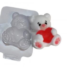 Форма для мыла Мишка с сердцем