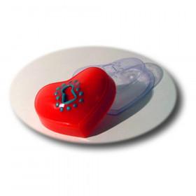 Форма для мыла Сердце на замочке