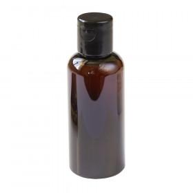 Флакон флип-топ 50 мл коричневый колпачок черный