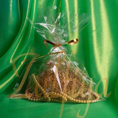 Пакет прозрачный с узором 15х20 см
