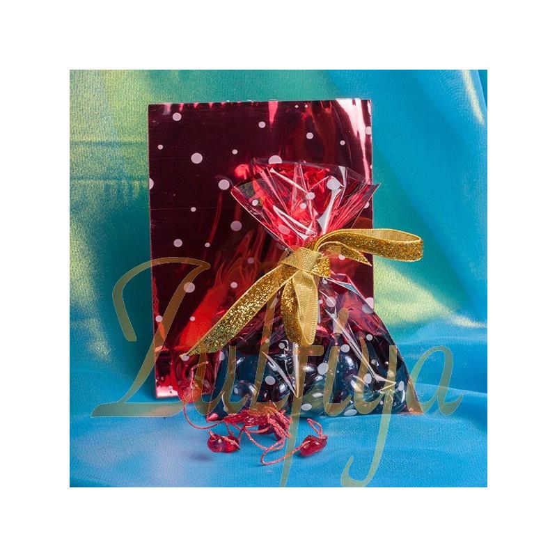 Пакет с цветной подложкой 10х15 см