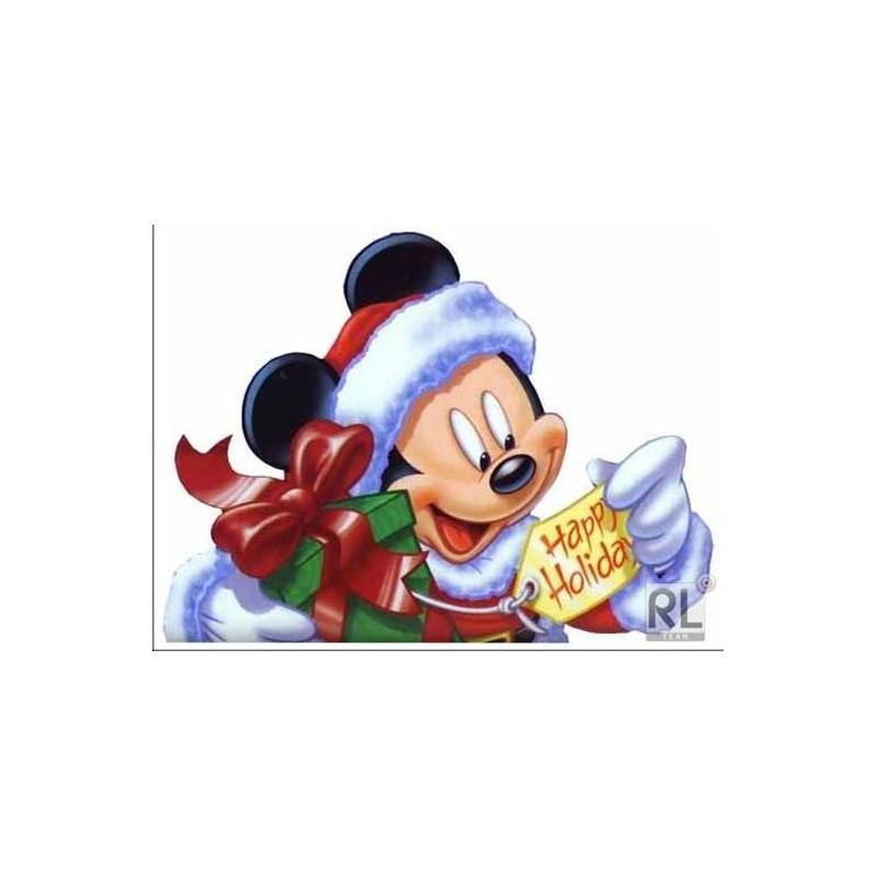 Картинка Микки-Маус с подарком 4,5х6,0 см